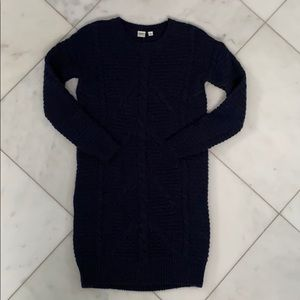 NWT Wool Navy Cable Knit Sweater Dress